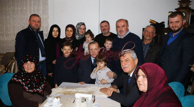 Cumhurbaşkanı Erdoğan,   Karaosmanoğlu'nun evine konuk oldu