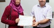 DER-MEK'li kursiyerlere sertifika