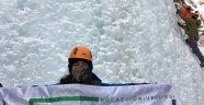 KOÜDAK üyeleri buz tırmanışına katıldı